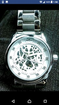 Designer styled Chrome stainless automatic watch  Toronto, M1B 2W1