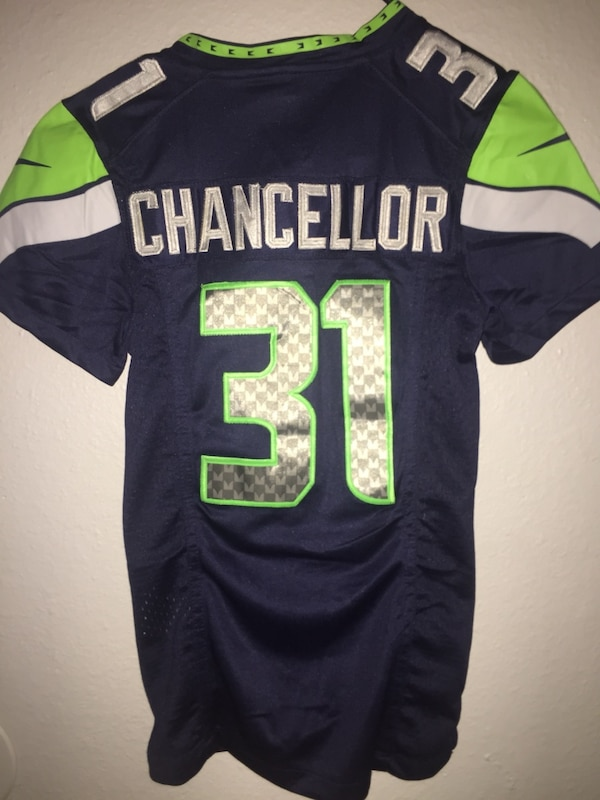 a9f3891cadc Used Kam Chancellor NFL Kids Youth medium on field Jersey for sale in  Fresno - letgo