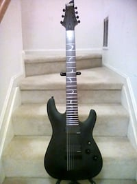 black and brown electric guitar Smyrna, 19977
