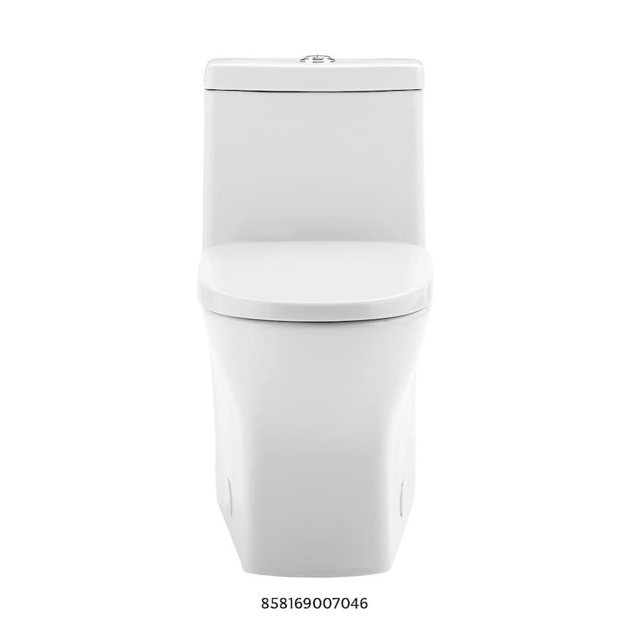 Swiss Madison Sublime 2-piece 0.8 GPF Dual Flush Round Toilet in Glossy White Seat Included 91b48463-4e37-42f3-8526-28606988d611