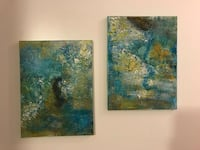 Two abstract paintings Montréal, H4R 1W6