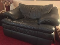 Comfortable Italian leather sofa and chair Markham