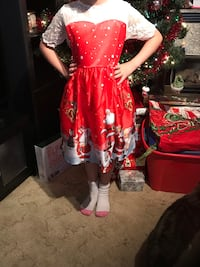 Size 9 girls Christmas dress 3715 km