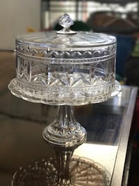clear glass cake plate with lid Las Vegas, 89119