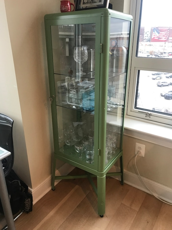 Used Ikea Fabrikor Glass Display Case For Sale In