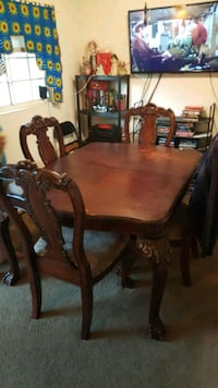 rectangular brown wooden table with 4 chairs din Orlando, 32810