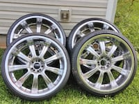 "24 "" rims and tires for sale Hampton"
