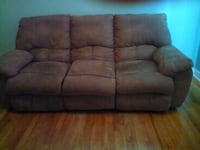 brown suede 3-seat sofa MONTREAL