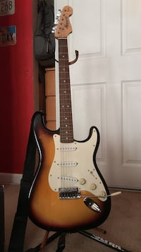 Star caster electric guitar and amp