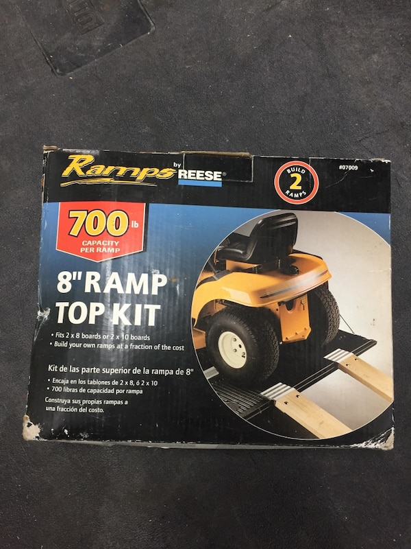 Ramp Kit 700lb Capacity  Great for lawn mowers, 4-wheelers, motorcycles,  and dirt bikes