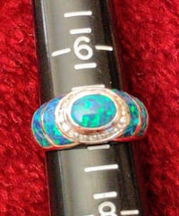 Opalized Turquoise Silver Ring Hastings, 68901