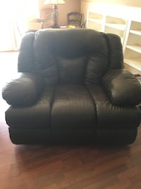 black leather 2-seat sofa Purcell, 73080