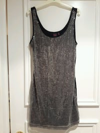 LOWERED: SHIMMER/SPARKLE/SEQUIN DRESS SILVER SIZE M (MATERIAL GIRL) Toronto, M6B 3J3