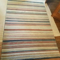 4 by 6 striped wool rug North Potomac, 20878