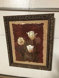 brown wooden framed painting of white flowers New York, 10314