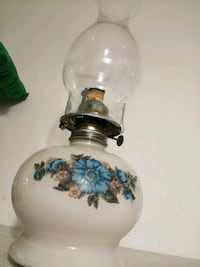 white and blue floral ceramic table lamp Rialto, 92376