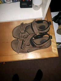 pair of gray leather sandals Halifax, B3H 4R4