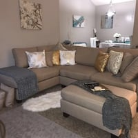 Brand new linen sectional sofa with ottoman Silver Spring, 20902