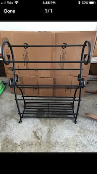 Metal towel or quilt stand TORONTO