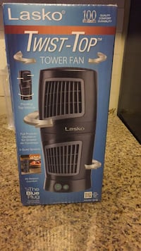 Black and gray lasko tower fan box Greenbelt, 20770