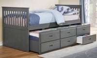 Captain bed twin 3 colors available FREE LOCAL DELIVERY Las Vegas, 89121