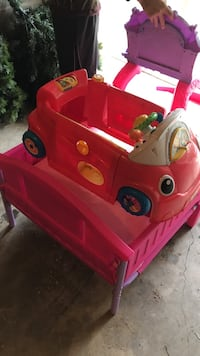 toddler's red car ride-on toy 237 mi
