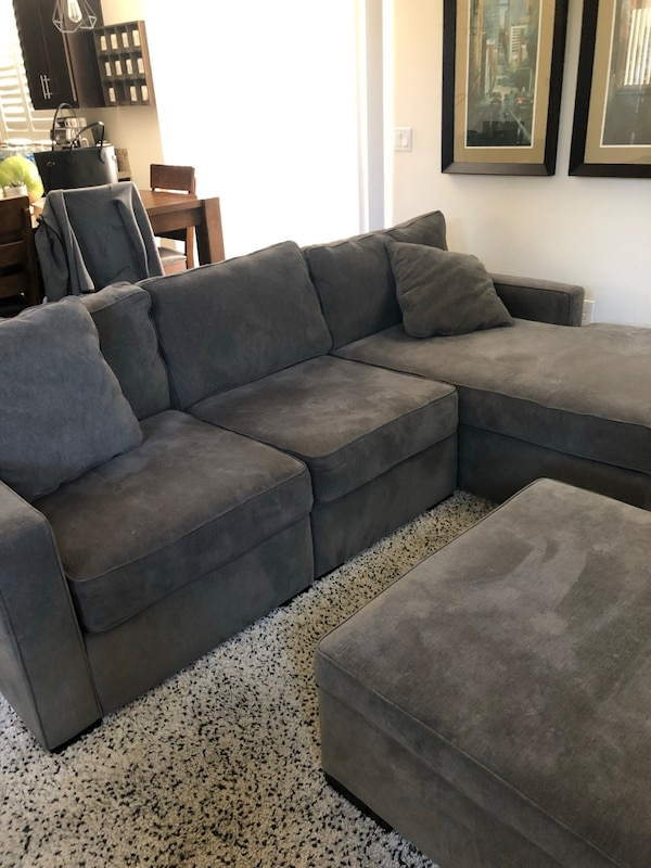 Used Radley 3 Piece Sofa With Chaise And Ottoman For Sale In