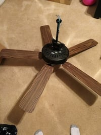 black and brown 5-blade ceiling fan Lexington, 29072