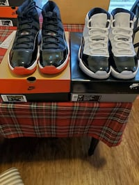 Air Jordan bred 11s size 13/ concords 11's size 12.5 with original box