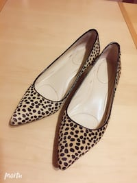 Calvin Klein cat heel shoes, real leather, Size 6 蒙特利尔, H4E