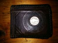Leather Buffalo Nickel Wallet