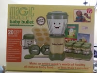Brand new baby bullet with 20 storage containers in box Mission, V2V 6G5