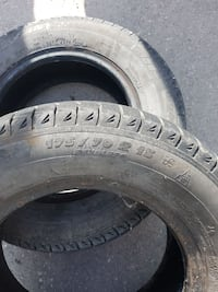 two automotive tires