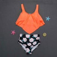 Brand new orange and black floral bikini Markham, L3R 9P4