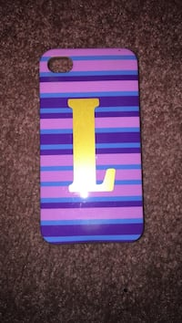 L striped iphone 4/4s case