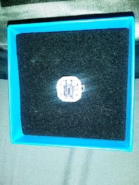 Silver ring cz all around and purple stone in the Oklahoma City, 73139