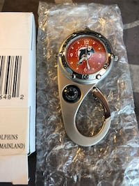 Miami Dolphins carabiner watch and compass (new)
