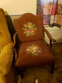 Brown tapestry side chair Davenport, 52804
