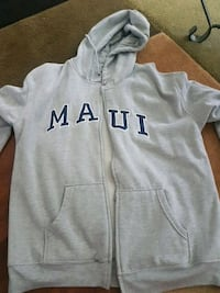 gray and black maui zip up hoodie New Westminster, V3L 4C5