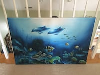 Hand painted dolphin art Charlotte, 28269