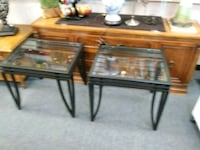 2 matching glass end tables Houston, 77077