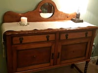 Antique oak sideboard Duncan, V9L 5R4