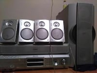 5 loud speackers nd the bass home theater