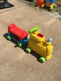 yellow ride-on toy train