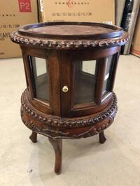 Mini Rosewood End Table with Storage Vancouver
