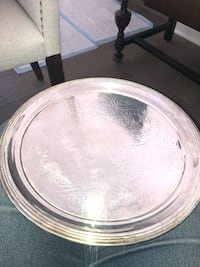Silver Plate Round Tray - B Rogers Silver Co. Glendale, 91206