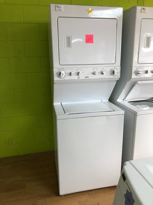 Kenmore white stacked washer and dryer unit 27""
