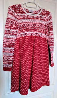 Hanna Andersson red and white long-sleeved dress Lyalta, T0J 1Y1