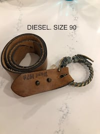 Diesel leather belt -  size 90 made in Italy