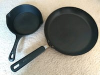 Two skillets - cast iron and nonstick Oakton, 22124